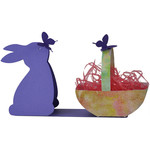 bunny with butterfly candy basket