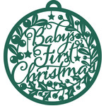 baby's first christmas bauble ornament