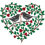 love birds valentines heart