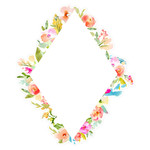 cute diamond flower frame