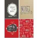 holiday tidings 3x4 journaling cards