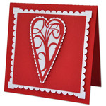 flourished scalloped heart card
