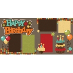 happy birthday 2 page scrapbook kit