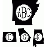 monogram serif states A-Missouri Regular