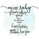 miss ruby font