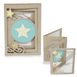 accordion shadow box card - star