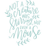 not a creature was stirring handlettering