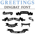 greetings dingbat font