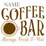 custom coffee bar sign