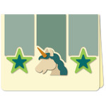 unicorn stars trio a2 card