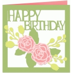 happy birthday roses card