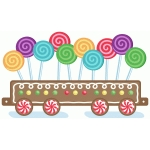 gingerbread train long flat car
