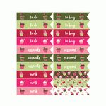christmas cupcake planner flag stickers