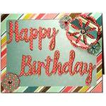 happy birthday deco flower card