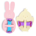 bunny and chick candy holder