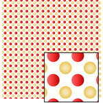 red & gold dots pattern