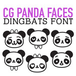 cg panda faces dingbats