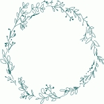 floral wreath sketch