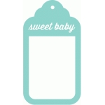 sweet baby tag frame