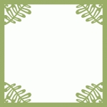 ornate fern corners page frame 12 x 12