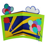 balloon celebration tunnel card
