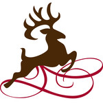 reindeer with flourish