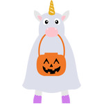 funny ghost unicorn