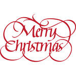 merry christmas with flourishes