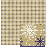 snowflake paper - gold