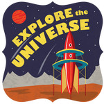 explore the universe flat card