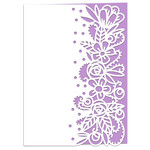 forest flowers lace edged card