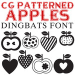 cg patterned apples dingbats