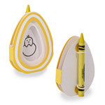 easter egg crayon card - chick