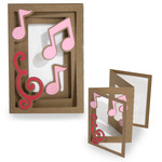 accordion shadow box card - musical notes