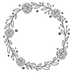 floral handdrawn wreath