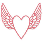 heart frame with wings