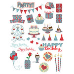 country-look birthday planner stickers