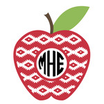 southwest apple monogram frame