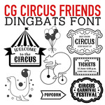 cg circus friends dingbats