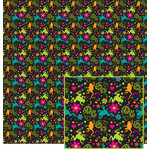 frogs and flowers pattern