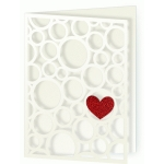 card valentine bubbles of love