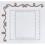 doodle border embroidery pattern