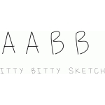 itty bitty sketch font