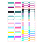 colorful blank planner labels