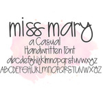 miss mary font