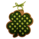 shamrock polkadot ornament