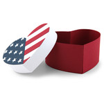 U.S.A flag heart shaped box