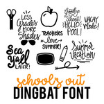 school's out for summer dingbat font