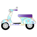 floral scooter