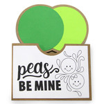pocket coloring card - peas be mine